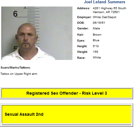 arkansas sex offender law