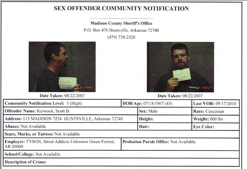 arkansas sex offender law